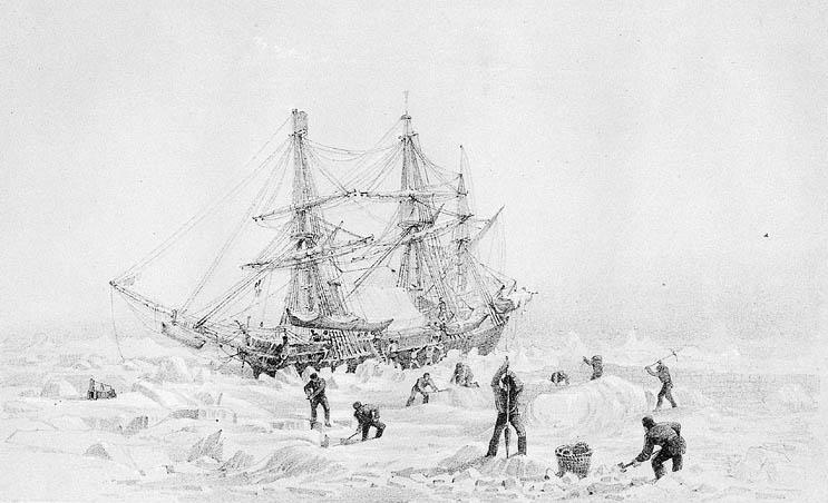 La serie The Terror che racconta la storia della spedizione perduta di Franklin, nella foto la nave ammiraglia HMS Terror.